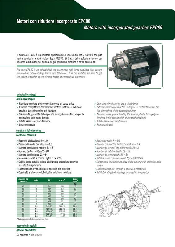 Motore con riduttore (IEC80)