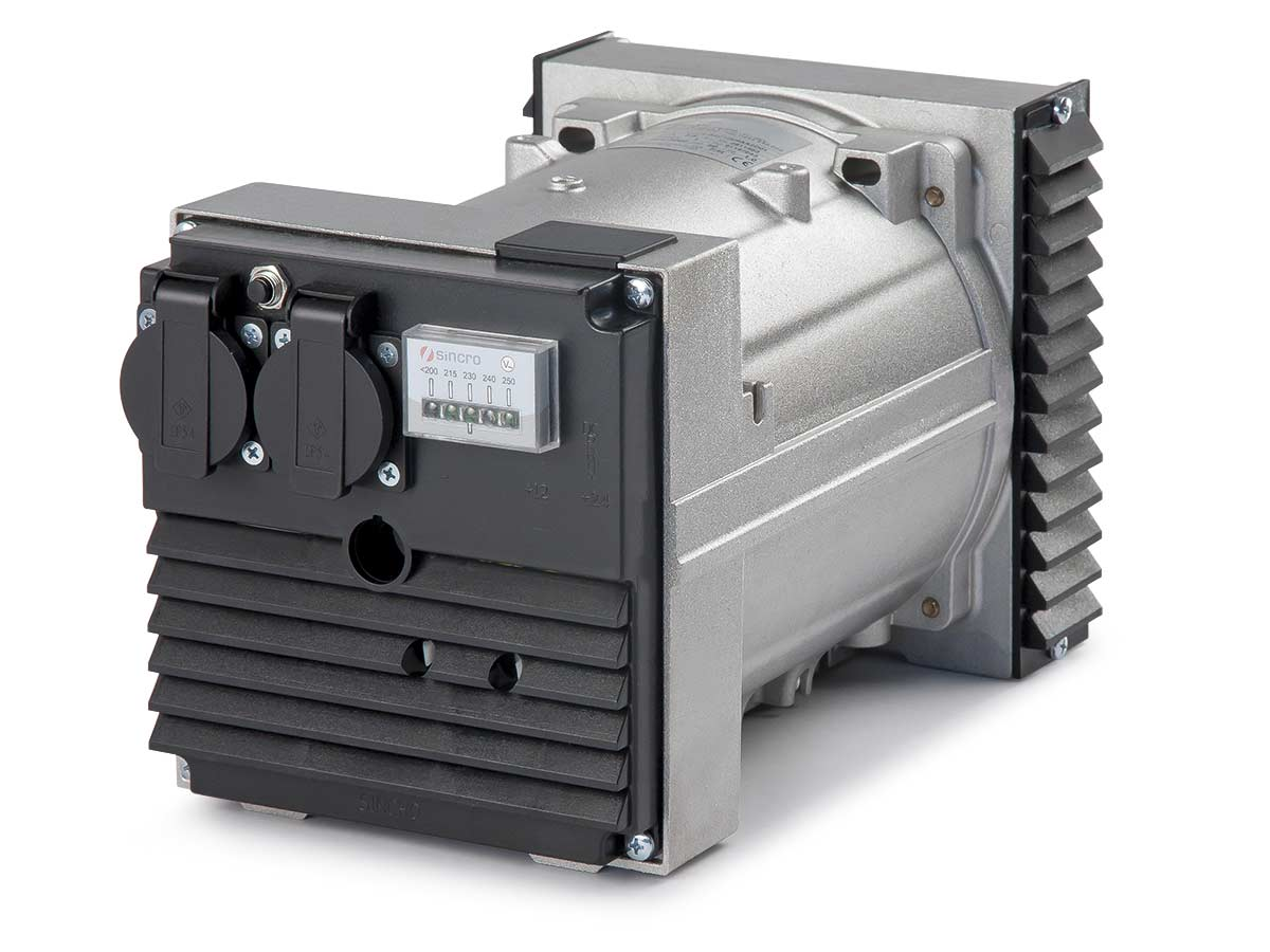 three phase 2 poles IP23 alternator AVR