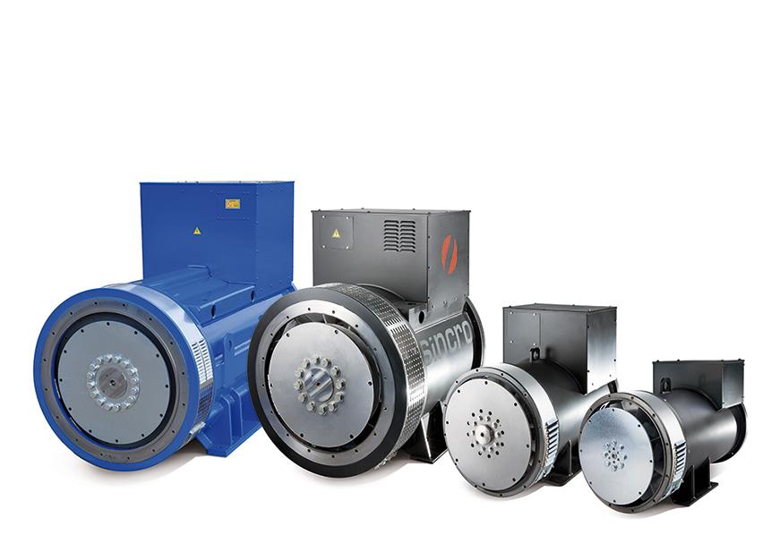 brushless AVR industrial alternators