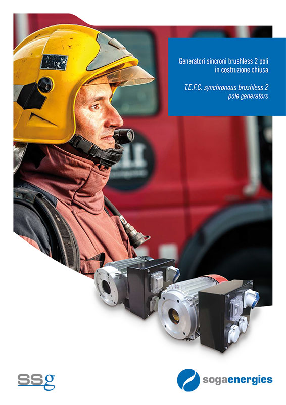 alternator IP54 for fire brigades and rescue