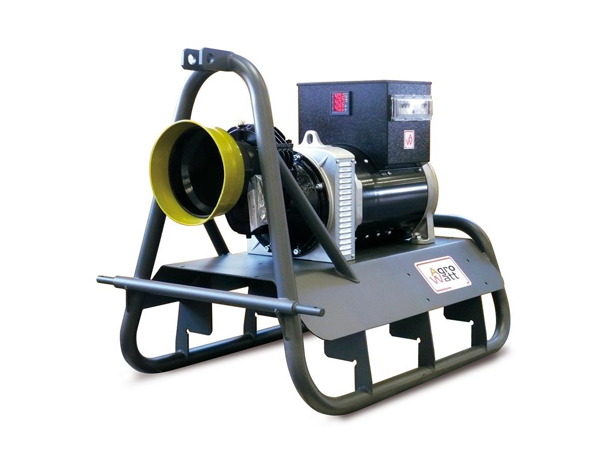 agrowatt pto generator with panel